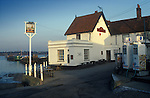 The Village Pub. Butt and Oyster. Pin Mill, Suffolk England. The River Orwell. 1990s 1991