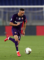Football, Serie A: S.S. Lazio - Fiorentina, Olympic stadium, Rome, June 27, 2020. <br /> Fiorentina's Frank-Henry Ribéry in action during the Italian Serie A football match between S.S. Lazio and Fiorentina at Rome's Olympic stadium, Rome, on June 27, 2020. <br /> UPDATE IMAGES PRESS/Isabella Bonotto