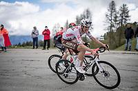 Ben O'Connor (AUS/AG2R Citroën) up the finale towards La Plagne (HC/2072m/17.1km@7.5%) <br /> <br /> 73rd Critérium du Dauphiné 2021 (2.UWT)<br /> Stage 7 from Saint-Martin-le-Vinoux to La Plagne (171km)<br /> <br /> ©kramon