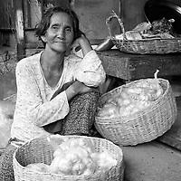 Battambang - Cambodia - June 2020<br /> -  Merchants at Art Deco architecture PSAR NAT Market