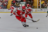 29 December 2018: Rensselaer Engineer Forward Ottoville Leppänen, a Freshman from Espoo, Finland, in first period action against the University of Vermont Catamounts at Gutterson Fieldhouse in Burlington, Vermont. The Catamounts rallied from a 2-0 deficit to defeat RPI 4-2 and win the annual Catamount Cup Tournament. Mandatory Credit: Ed Wolfstein Photo *** RAW (NEF) Image File Available ***