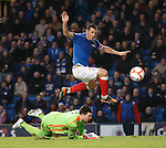 Lee McCulloch gets the ball in the net but the linesman rules his goal out
