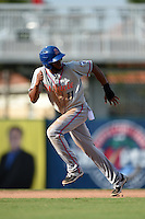 St. Lucie Mets shortstop Amed Rosario (11) running the bases during a game against the Fort Myers Miracle on April 19, 2015 at Hammond Stadium in Fort Myers, Florida.  Fort Myers defeated St. Lucie 3-2 in eleven innings.  (Mike Janes/Four Seam Images)