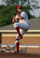 June 25, 2003:  pitcher C.J. Woodrow of the Batavia Muckdogs during a game at Dwyer Stadium in Batavia, New York.  Photo by:  Mike Janes/Four Seam Images