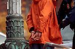 Seattle, Man in handcuffs, police making an arrest, downtown, street scene,