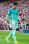 Neymar da Silva Santos Junior of FC Barcelona reacts during their La Liga match between Atletico de Madrid and FC Barcelona at the Santiago Bernabeu Stadium on 26 February 2017 in Madrid, Spain. Photo by Diego Gonzalez Souto / Power Sport Images