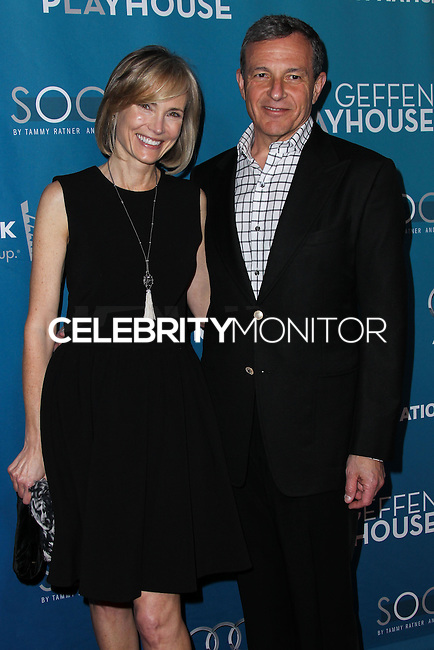 """WESTWOOD, LOS ANGELES, CA, USA - MARCH 22: Willow Bay, Bob Iger at the Geffen Playhouse's Annual """"Backstage At The Geffen"""" Gala held at Geffen Playhouse on March 22, 2014 in Westwood, Los Angeles, California, United States. (Photo by Xavier Collin/Celebrity Monitor)"""