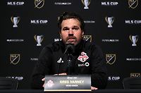 SEATTLE, WA - NOVEMBER 9: Head Coach Greg Vanney of Toronto FC at CenturyLink Field on November 9, 2019 in Seattle, Washington.