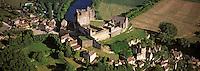 Europe/France/Aquitaine/24/Dordogne/Vallée de la Dordogne: Château de Beynac  , Vue aérienne