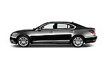 Car Driver side profile view of a 2016 Lexus LS President Line  4 Door Sedan Side View