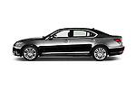 Car Driver side profile view of a 2016 Lexus LS President Line  4 Door Sedan Side View