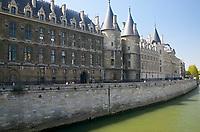 The Conciergerie on Ile de la Cite overlooking the Seine, Paris France