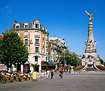 France, Département Marne, Champagne, Reims: Cafés at Place Drouet d'Erlon | Frankreich, Département Marne, Champagne, Reims: Cafés am Place Drouet d'Erlon