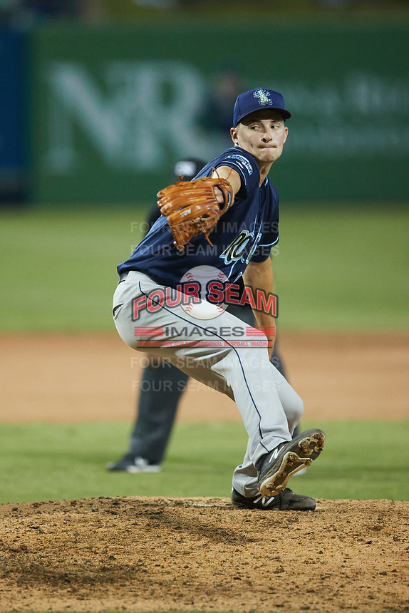 Wilmington Blue Rocks relief pitcher Alex Troop (29) in action against the Greensboro Grasshoppers at First National Bank Field on May 25, 2021 in Greensboro, North Carolina. (Brian Westerholt/Four Seam Images)