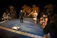 Antigone by Sophocles presented by Upstream Theatre at Kranzberg Arts Center in St. Louis, MO on Oct 9, 2014.