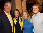 From left: Cal and Hannah McNair with Annie Beck and Jeff Michael at the Second Annual True Blue Gala sponsored by the Houston Police Foundation at the home of Paige and Tilman Fertitta Saturday Oct. 17,2009. (Dave Rossman/For the Chronicle)