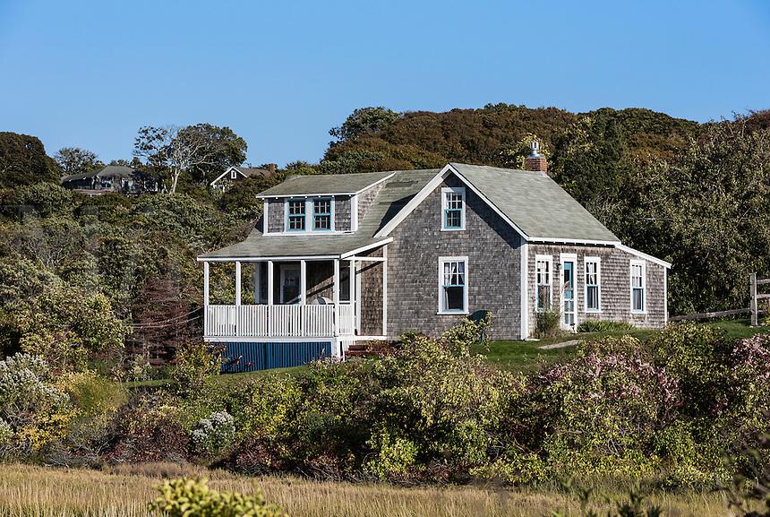 Simple Cape house, Menemsha, Chilmark, Martha's Vineyard, Massachusetts, USA