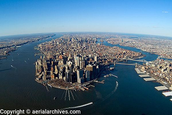 aerial photograph Manhattan, New York City, 2004