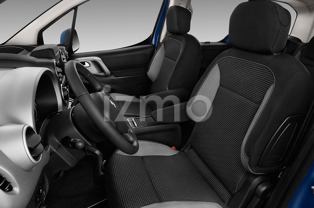 Front seat view of a 2018 Peugeot Partner Tepee Electric Allure 5 Door Mini Van front seat car photos