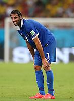 Georgios Samaras of Greece shows a look of dejection