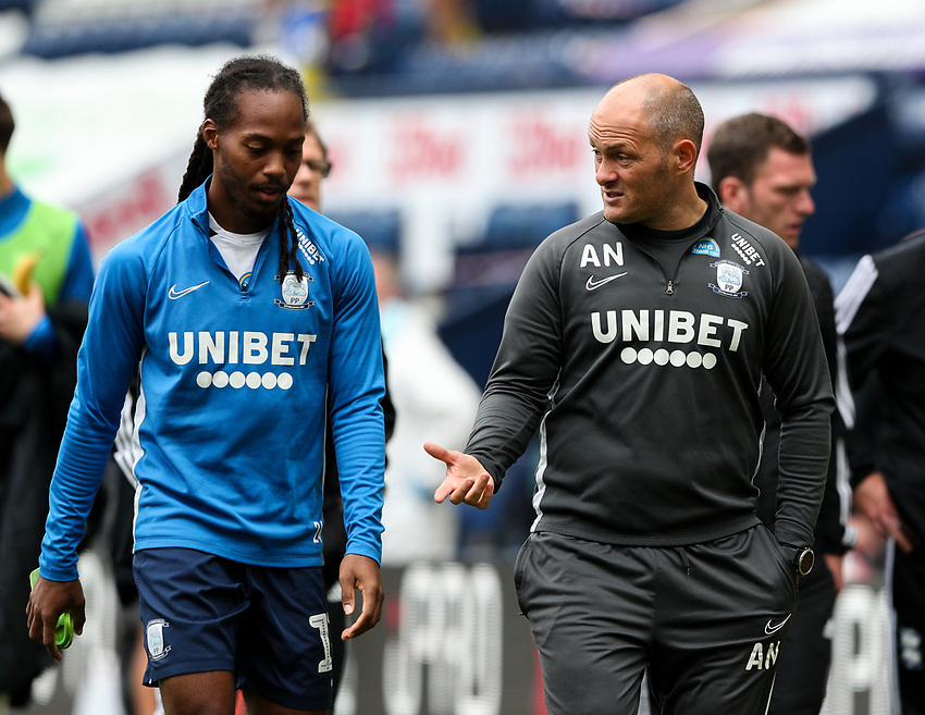 Preston North End manager Alex Neil has a word with Daniel Johnson after the game<br /> <br /> Photographer Alex Dodd/CameraSport<br /> <br /> The EFL Sky Bet Championship - Leeds United v Barnsley - Thursday 16th July 2020 - Elland Road - Leeds<br /> <br /> World Copyright © 2020 CameraSport. All rights reserved. 43 Linden Ave. Countesthorpe. Leicester. England. LE8 5PG - Tel: +44 (0) 116 277 4147 - admin@camerasport.com - www.camerasport.com<br /> <br /> Photographer Alex Dodd/CameraSport<br /> <br /> The EFL Sky Bet Championship - Preston North End v Birmingham City - Saturday 18th July 2020 - Deepdale Stadium - Preston<br /> <br /> World Copyright © 2020 CameraSport. All rights reserved. 43 Linden Ave. Countesthorpe. Leicester. England. LE8 5PG - Tel: +44 (0) 116 277 4147 - admin@camerasport.com - www.camerasport.com