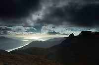 The Cobbler and the Firth of Clyde from Beinn Narnain, the Arrochar Alps, Loch Lomond and the Trossachs National Park, Argyll & Bute