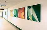 Dibond prints at a medical center in Pomona, California.