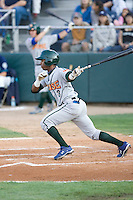August 6, 2010: Boise Hawks' Arismendy Alcantara (#3) at-bat during a Northwest League game against the Everett AquaSox at Everett Memorial Stadium in Everett, Washington.