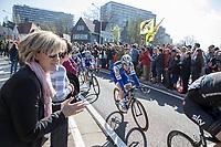 Julien Vermote (BEL/QuickStep Floors) riding into Sint-Niklaas in the peloton<br /> <br /> 101st Ronde van Vlaanderen  2017 (1.UWT)<br /> 1day race: Antwerp-Oudenaarde (260km)