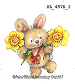 EASTER, OSTERN, PASCUA, paintings+++++,KL4570/1,#e#, EVERYDAY ,rabbit,rabbits ,sticker,stickers