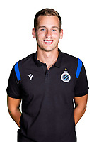 20th August 2020, Brugge, Belgium;  Jelmer Platteeuw pictured during the team photo shoot of Club Brugge NXT prior the Proximus league football season 2020 - 2021 at the Belfius Base camp