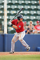 Birmingham Barons catcher Martin Medina (30) at bat during a game against the Biloxi Shuckers on May 24, 2015 at Joe Davis Stadium in Huntsville, Alabama.  Birmingham defeated Biloxi 6-4 as the Shuckers are playing all games on the road, or neutral sites like their former home in Huntsville, until the teams new stadium is completed.  (Mike Janes/Four Seam Images)