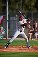 Minnesota Golden Gophers pinch hitter Gabe Knowles (19) at bat during a game against the Boston College Eagles on February 23, 2018 at North Charlotte Regional Park in Port Charlotte, Florida.  Minnesota defeated Boston College 14-1.  (Mike Janes/Four Seam Images)