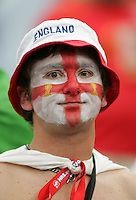 English Fan.  Portugal defeated England on penalty kicks after playing to a 0-0 tie in regulation in their FIFA World Cup quarterfinal match at FIFA World Cup Stadium in Gelsenkirchen, Germany, July 1, 2006.