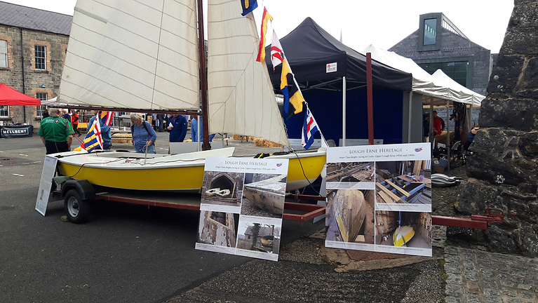 Ranger the 80-Year-Old Snipe Dinghy at Lough Erne Heritage Skills Day