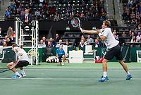 Rotterdam, The Netherlands. 15.02.2014. Mariusz Fyrstenberg(POL)/ Marcin Matkowski(POL) at the ABN AMRO World tennis Tournament<br /> Photo:Tennisimages/Henk Koster