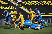 2nd May 2021; Stade Marcel-Deflandre, La Rochelle, France. European Champions Cup Rugby La Rochelle versus  Leinster Semi-Final; Raymond RHULE of Stade Rochelais tackled by Ryan of Leinster