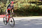 Tosh Van Der Sande (POL) Lotto-Soudal climbs during Stage 13 of the Vuelta Espana 2020 an individual time trial running 33.7km from Muros to Mirador de Ézaro. Dumbría, Spain. 3rd November 2020. <br /> Picture: Luis Angel Gomez/PhotoSportGomez | Cyclefile<br /> <br /> All photos usage must carry mandatory copyright credit (© Cyclefile | Luis Angel Gomez/PhotoSportGomez)