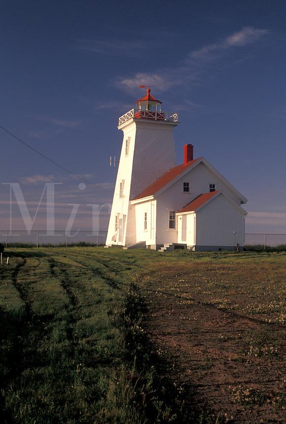 lighthouse, Prince Edward Island, P.E.I., Canada, Wood Island Lighthouse on Prince Edward Island.