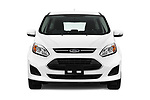Car photography straight front view of a 2018 Ford C-Max SE-Hybrid 5 Door Mini MPV Front View