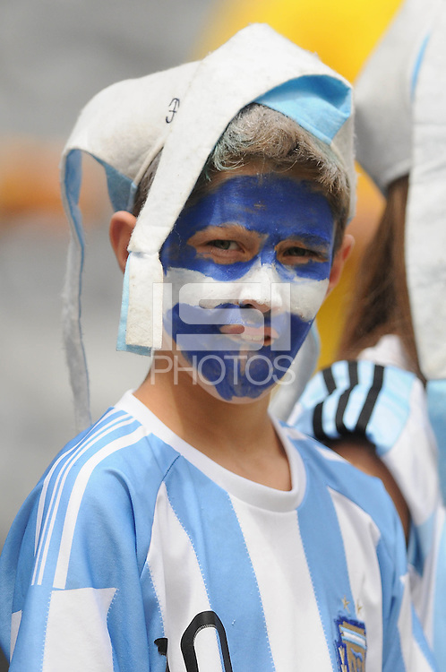 Argentina fan. The Argentina National Team defeated Brazil 4-3 at MetLife Stadium, Saturday July 9 , 2012.
