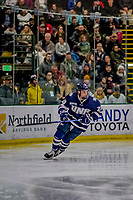 9 February 2019: University of New Hampshire Wildcat Defenseman Benton Maass, a Sophomore from Elk River, MN, in second period action against the University of Vermont Catamounts at Gutterson Fieldhouse in Burlington, Vermont. The Wildcats fell to the Catamounts 4-1 splitting their 2-game Hockey East weekend series. Mandatory Credit: Ed Wolfstein Photo *** RAW (NEF) Image File Available ***