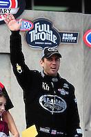 Sept. 25, 2011; Ennis, TX, USA: NHRA top fuel dragster driver Larry Dixon during the Fall Nationals at the Texas Motorplex. Mandatory Credit: Mark J. Rebilas-