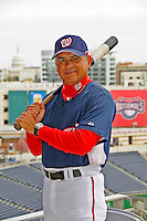 13 April 2008: Washington Nationals' first base coach Jerry Morales poses in the stands of Nationals Park prior to a game against the Atlanta Braves at Nationals Park, in Washington, DC. The Nationals ended their 9-game losing streak by defeating the Braves 5-4 in the last game of their 3-game series...Mandatory Photo Credit: Ed Wolfstein Photo