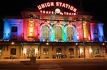 The old Union Station, Denver, Colorado, USA John offers private photo tours of Denver, Boulder and Rocky Mountain National Park.
