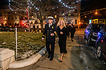 WATERBURY, CT. 20 December 2019-122019BS243 - Soon to be new Waterbury Fire Chief Terry Ballou along the sidewalk with his wife Jennifer as they enter City Hall for the Fire Chief swearing in ceremonies on Friday. Terry Ballou replaces former Fire Chief David Martin, who retired earlier this year. Bill Shettle Republican-American