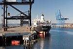 Container Terminal, Commencement Bay, Tacoma, WA.  Commencement Bay's history of industry and shipping has led it to designation as one of the most pulluted waterways in the nation.