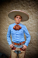 Cowboy at Charreada rodeo, Guadalajara, 2009
