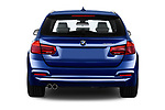 Straight rear view of a 2017 BMW 3 Series Touring Luxury 5 Door Wagon stock images