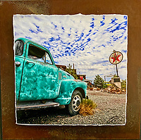 Texaco Chevy - Mixed Media - Nevada<br />